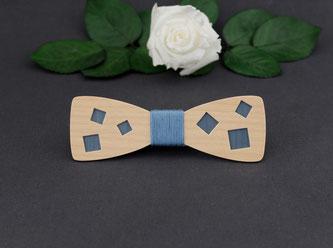 Noeud pap bois, accessoire wedding tendance, noeud papillon bois bleu, noeud papillon bois bleu ardoise, noeud papillon bleu ardoise