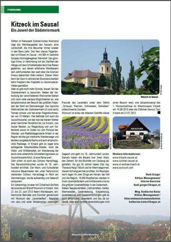 mein Lavendelbild @ G´sund - Das Mitarbeitermagazin der Steiermärkischen Krankenanstaltengesellschaft m.b.H Seite 40 - JUNI 2013