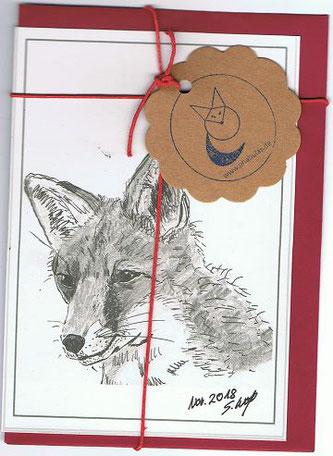 Kunstkarte Vorderseite: Fuchs