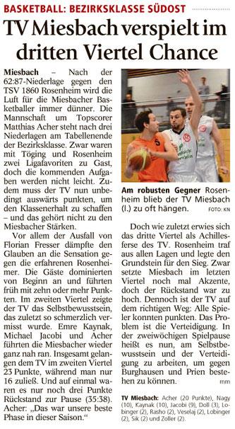 Bericht im Miesbacher Merkur am 24.10.17 - Zum Vergrößern klicken