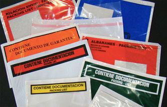 Sobres Portadocumentos - Packing List