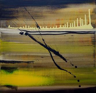"""""""étincelle"""" - toile réalisée avec Benoit GUERIN - 50X50 - 2014"""