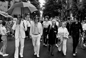 Günther Thews, Holger Klotzbach, Marianne Enzensberger, Lotti Huber and Rosa von Praunheim, Christopher Street Day, 1982