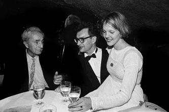 Michelangelo Antonioni, Wim Wenders and Donata Wenders at the European Film Award, 1992