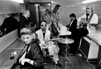 The Drei Tornados in a special concert in the ladies toilet in the ICC during the Hurenball, 1988