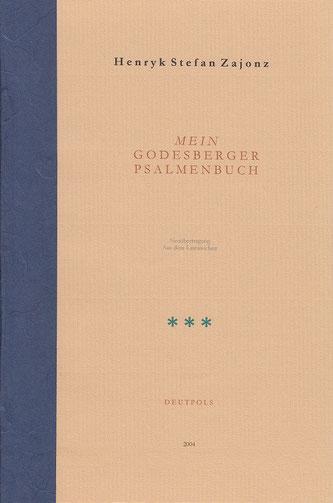 Stefan Zajonz, Psalmen Bd.3 / Ps 31-41 / Deutpols, 5 Eemplare / gedruckt auf Zeta-Mattpost-Zander-Papier & Fabriano, mit Seidenpapier / Bonn-Bad Godesberg, 02.02.2004