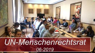Gastreden beim Menschenrechtsrat der Vereinten Nationen in Genf - Juni 2019