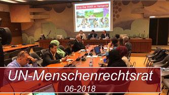 Gastreden beim Menschenrechtsrat der Vereinten Nationen in Genf - Juni 2018