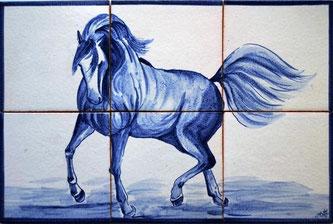 """Lusitano"" blau-weiß PN-142,"