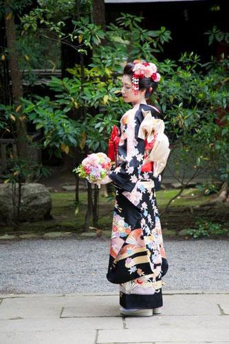 お着物にぴったり!和装に合わせたブーケやヘッドドレスをご覧ください♪