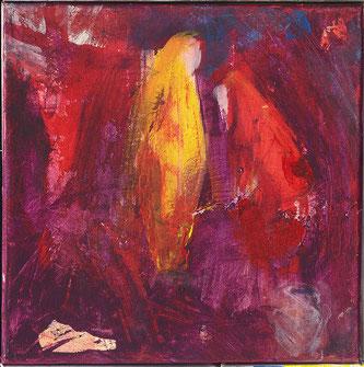 Begegnung .  Acryl auf Leinwand .  30 x 30 cm . 450 €