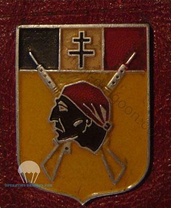 Véritable insigne du régiment des Maures fabriqué à Lyon en 1944