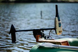 ミンコタ社製36lb。小型ボートにはこれでじゅうぶん。