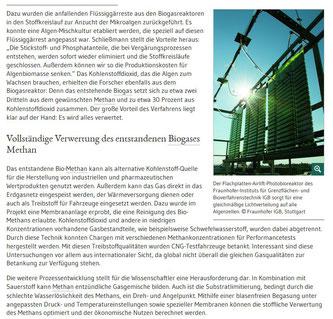 Redaktionsbüro Simone Giesler - Bioökonomie, Biotechnologie - Algen
