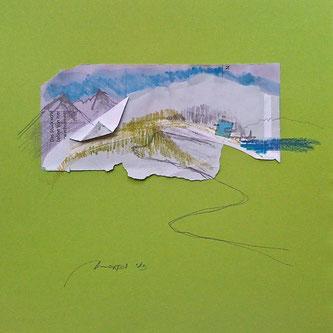 Werk von Johanns Morten, Architektur und Landschaft, der Geist des Ortes, Haus in den Bergen am See