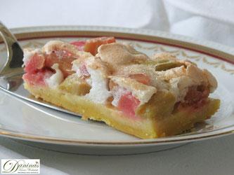 Rhabarberkuchen aus Mürbteig mit Baiser. Konditor-Rezept by Daninas Dad.