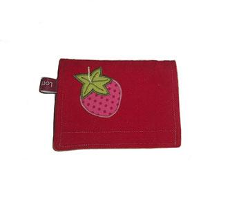 Geldbörse für Mädchen mit Erdbeere