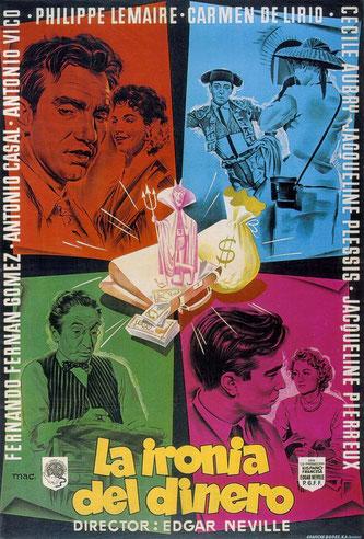 Affiche du film La ironia del dinero (Bonjour la chance) avec Cécile Aubry