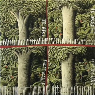 'Four Kauri'  500 x 500mm Oil on canvas SOLD