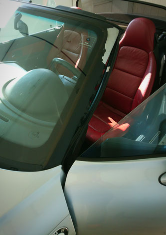 Scheibenrahmen BMW Z3 Folie ersetzten