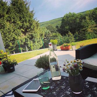 Wienerwald - Ausblick von unserer Terrasse