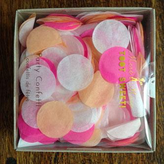confettis roses deco baby shower bapteme anniversaire