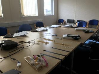 Training room set up for Assessor Training