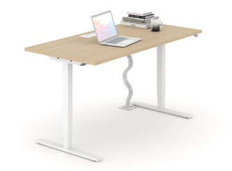 Höhenverstellbarer Arbeitstisch Einzelplatz
