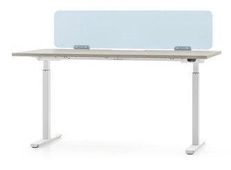 Höhenverstellbarer Schreibtisch EASY mit Beispielausstattung