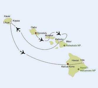Mietwagenreise Hawaii