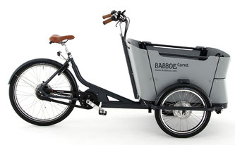 Babboe Curve Mountain Lasten e-Bike, Lastenfahrrad mit Elektromotor, e-Cargobike 2017