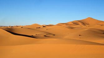 Die Wüste in Marokko
