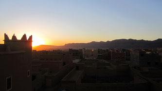 Eine Kasbah in Marokko