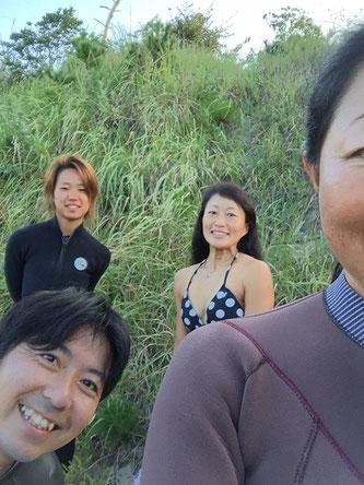 朝江口が満ちていたので朝一定例会ハンターしました!約一名写ってませんが^^;