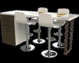 pied de table design pour cuisine