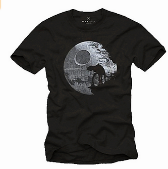 Star Wars T-Shirt mit AT-AT und Todesstern Motiv