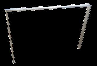 Pata con nivelador de altura de acero inoxidable Madrid