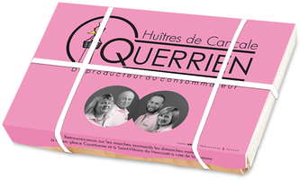 Bourriche huîtres Querrien Cancale Pascal Helleu - Logo&Co Communication Cancale