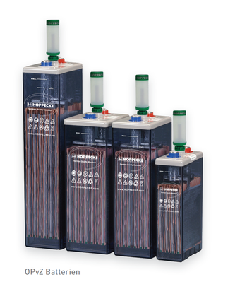 Hppecke OPzS batteries - SOLARA power storage