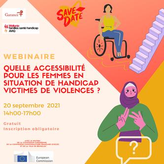 """Webinaire : """"Quelle accessibilité pour les femmes en situation de handicap victimes de violences?"""" – 20 septembre 2021"""