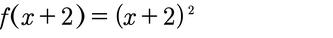 Beispiel zur Verschiebung einer quadratischen Funktion um zwei nach links