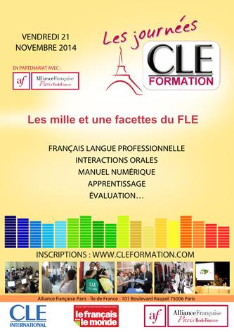 Affiche des Journées CLE Formation à Paris - 2014