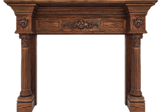 Baltimore's LaSalle Wood Fireplace Mantel