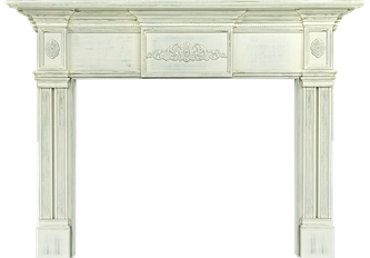 Memphis' Magnolia Wood Fireplace Mantel