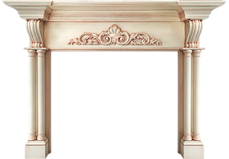 Raleigh Wood Fireplace Mantel