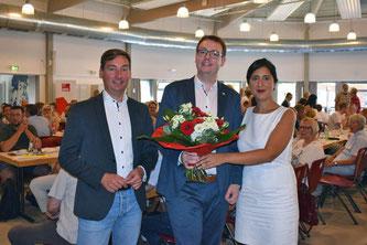 Denis Waldästl mit Sara Zorlu und Sebastian Hartmann