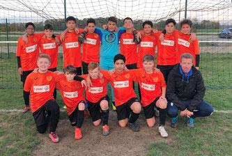 Belle performance des U14 victorieux de Lusigny 1 à 0