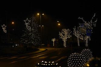 Weihnachtliche Strasse