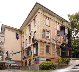 Fassadenkunst finaler Entwurf Gebäude 8 © Philipp Schäfer