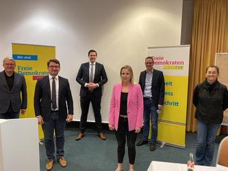 v.l.n.r.: Frank Schäffler, Christian Sauter, Patrick Büker, Daniela Beihl, Thorsten Baumgart, Silke Wehmeier